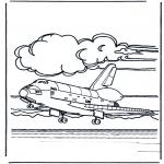 Allerhand Ausmalbilder - Space  Shuttle landet