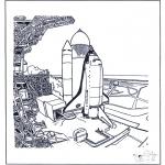 Allerhand Ausmalbilder - Space shuttle