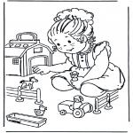 Ausmalbilder für Kinder - Spielbauernhof