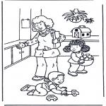 Ausmalbilder für Kinder - Spielen mit Spielzeug