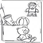 Ausmalbilder für Kinder - Spielzeug Ausmalbild 1