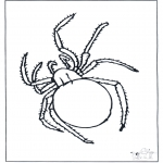 Ausmalbilder Tiere - Spinne