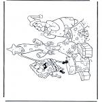 Ausmalbilder für Kinder - Spongebob mit Weihnachtsbaum