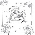 Ausmalbilder für Kinder - Spülen