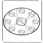 Basteln Stechkarten - Stechkarte 10