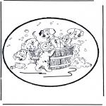 Basteln Stechkarten - Stechkarte 101 Dalmatiner 1
