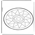 Basteln Stechkarten - Stechkarte 13