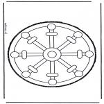 Basteln Stechkarten - Stechkarte 29