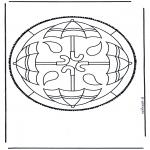 Basteln Stechkarten - Stechkarte 44