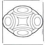Basteln Stechkarten - Stechkarte 45