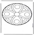 Malvorlagen Mandalas - Stechkarte 50