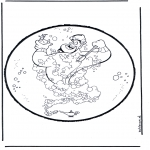 Basteln Stechkarten - Stechkarte  Aladin 1