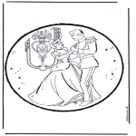 Basteln Stechkarten - Stechkarte Aschenputel 1