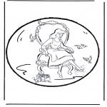 Basteln Stechkarten - Stechkarte Aschenputtel 2
