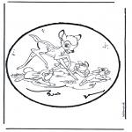 Basteln Stechkarten - Stechkarte  Bambi 1