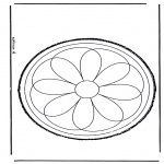 Basteln Stechkarten - Stechkarte Blume