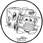 Basteln Stechkarten - Stechkarte - Cars