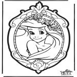 Basteln Stechkarten - Stechkarte Disney Prinzessin 1