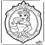 Basteln Stechkarten - Stechkarte Disney Prinzessin 2