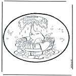 Basteln Stechkarten - Stechkarte Dumbo