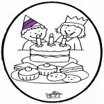 Basteln Stechkarten - Stechkarte Geburtstag