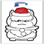 Basteln Stechkarten - Stechkarte Hamster