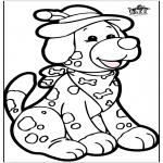 Basteln Stechkarten - Stechkarte Hund 1