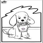 Basteln Stechkarten - Stechkarte Hund 2