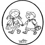 Basteln Stechkarten - Stechkarte in die Schule