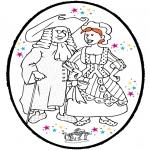 Basteln Stechkarten - Stechkarte Karneval