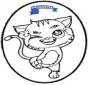 Stechkarte Katze