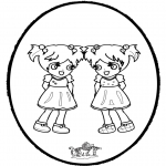 Basteln Stechkarten - Stechkarte - Mädchen