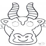 Basteln Stechkarten - Stechkarte Maske 1