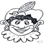 Basteln Stechkarten - Stechkarte Maske 10