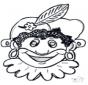 Stechkarte Maske 10