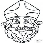 Basteln Stechkarten - Stechkarte Maske 11