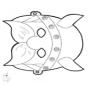 Stechkarte Maske 12