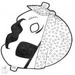 Basteln Stechkarten - Stechkarte Maske 13