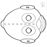Basteln Stechkarten - Stechkarte Maske 14