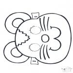 Basteln Stechkarten - Stechkarte Maske 2
