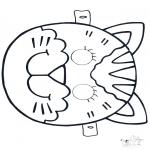 Basteln Stechkarten - Stechkarte Maske 4
