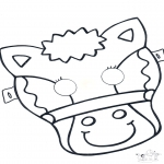 Basteln Stechkarten - Stechkarte Maske 5