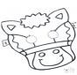 Stechkarte Maske 5