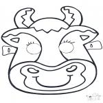 Basteln Stechkarten - Stechkarte Maske 6