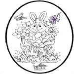 Basteln Stechkarten - Stechkarte Ostern