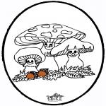 Basteln Stechkarten - Stechkarte Pilze