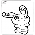Basteln Stechkarten - Stechkarte Pokemon 5