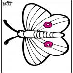 Ausmalbilder Tiere - Stechkarte - Schmetterling