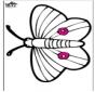 Stechkarte - Schmetterling