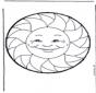 Stechkarte Sonne